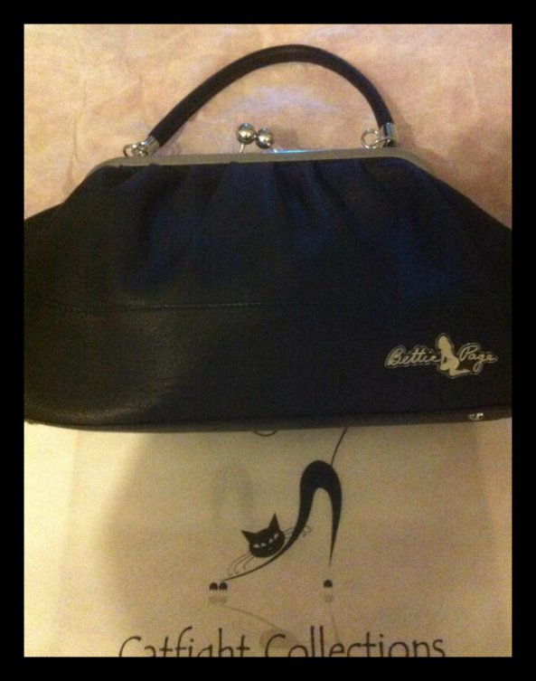 79.95 Bettie Page handbag from Catfight Collections